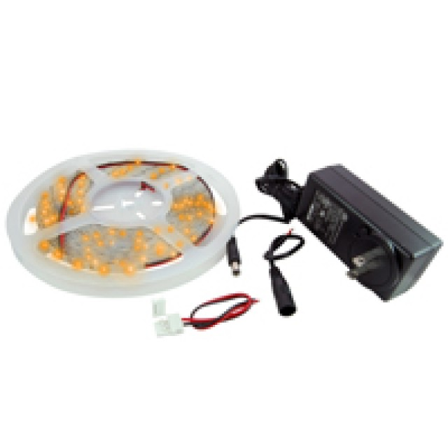 NTE 69-28B-WR-KIT LED STRIP KIT BLUE 16.4FT IP65 300(2835) LEDS 12V 52.5W INCLUDES LED STRIPS POWER SUPPLY CONNECTORS (Product Image)