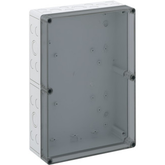 Altech 106-012 PS3625-11-tm,360x254x111mm Enc, Polystyrene, Tran, M Knockouts (Product Image)