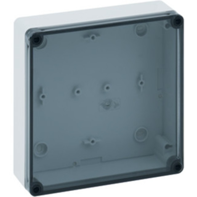 Altech 111-013 PS1818-6f-to, 182x180x63mm Enc, Polystyrene, Tran, Smooth Side (Product Image)