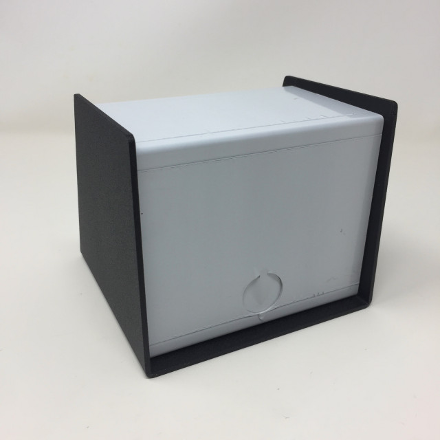 BUD SC-12100 BUD Sloped Metal Electronics Box (4.3 X 4.9 X 5 In) Item Number : SC-12100 (Product Image)