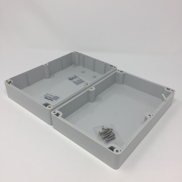 BUD PN-1329 BUD NEMA Polycarbonate 8.37 x 5.39 x 2.71 Inch Internal box with Light gray polycarbonate Body/Cover and No Mounting Bracket (Product Image)
