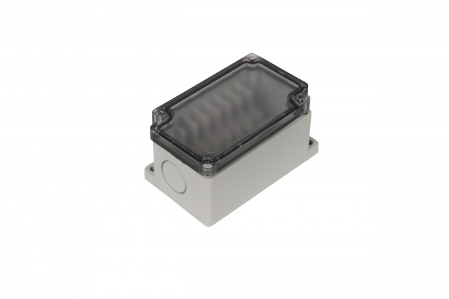 BUD PTT-10683-C BUD PTT-10683-C ABS- 6 side Terminal narrow Block Box(55x91x43 mm)Clear Cover (Product Image)