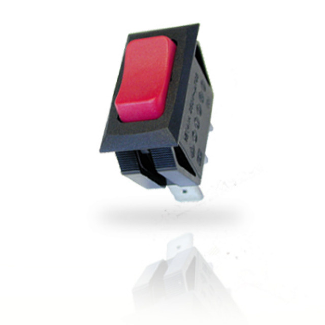 ZF (Formerly Cherry) CRE22F2FBRNE Power Rocker Switch Single-Pole On-Off With 6.3mm Q.C. Terminals (Product Image)