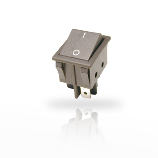 ZF (Formerly Cherry) WRG32F2FBGLN ZF (Cherry) 16 A 250 VAC Double Pole Rocker Switch, PN - WRG32F2FBGLN (Product Image)