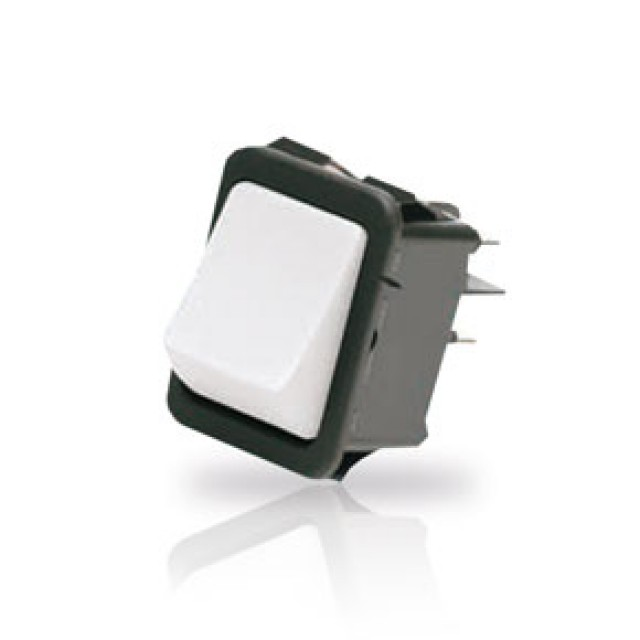 ZF (Formerly Cherry) YRM32F2BBRLN Double-Pole Power Rocker Switch Double-Pole On-Off With 6.3mm Q.C. Terminals (Product Image)