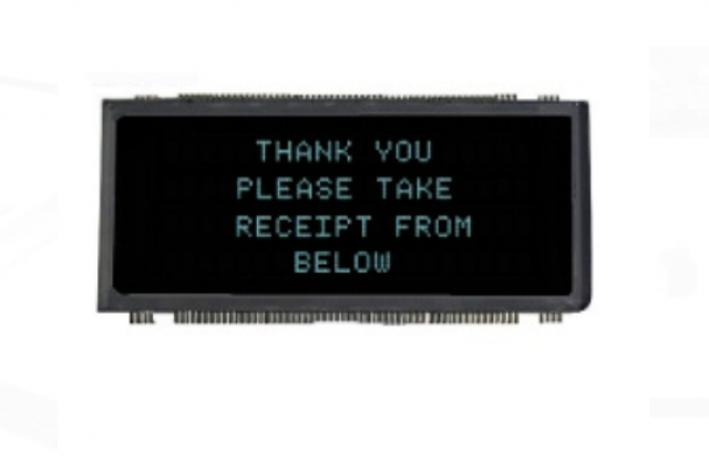 Newhaven Display D0420SD-53-4001FN Newhaven 4 x 20 character (Dot Matrix)   VFD Glass @  and  Interface with  Connector and  Controller. PN - D0420SD-53-4001FN (Product Image)