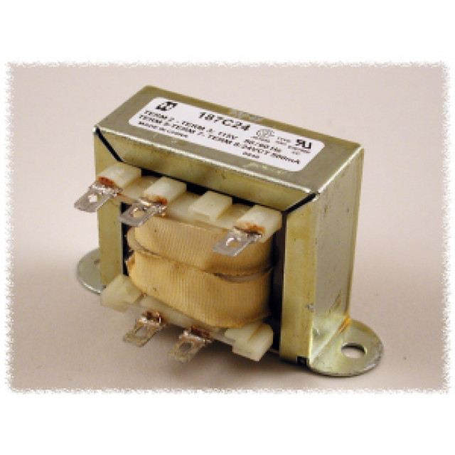 Hammond Mfg. 187F56 Open Frame Low Voltage Chassis Mount Transformer with Single 115 VAC Primary & 56V C.T. Secondary 1.8 Amps, 100.8 VA Rated, with Quick Connect÷Solder Terminals (Product Image)