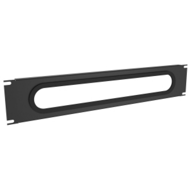 Hammond Mfg. DNCE19BK1 Hammond 2U 19IN HCM CABLE ENTRY PANEL Part Number DNCE19BK1 [UPC 62398077887 ] (Product Image)