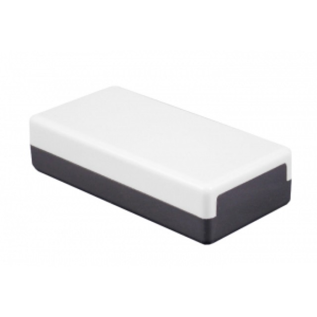 Hammond Mfg. MB181112 Hammond Two Tone (7.4 x 4.33 x 4.72) Plastic Fixed Panel Enclosures with Solid lid. (Product Image)