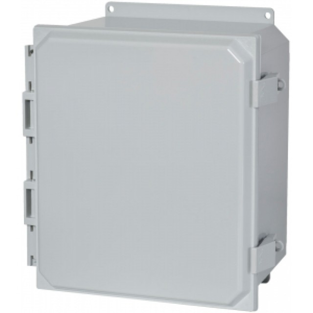 Hammond Mfg. PCJ16148NL Hammond (15.98 x 13.98 x 7.81) Type 4X Polycarbonate Junction Box Non-Metallic Latch Cover Solid Cover and Feet Mounting (Product Image)