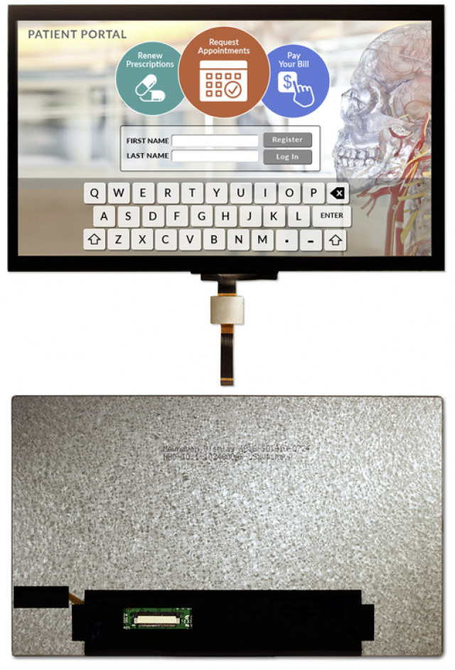 Newhaven NHD-10.1-1024600AF-LSXV#-CTP Newhaven 1024 x 600 transmissive Premium 10.1 TFT Capacitive Touch Panel Using LVDS Interface Interface and 54104-4033 or equivalent Connector. (Product Image)