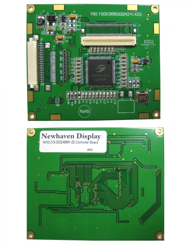 Newhaven NHD-3.5-320240MF-22 Controller Board Newhaven   Digital Controller board for TFT w/ Touch Panel input Using 8-bit parallel Interface and / Connector. (Product Image)