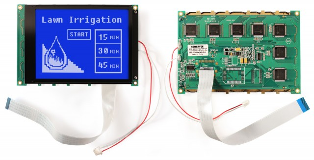 Newhaven NHD-320240WG-ATMI-TZ# Newhaven 320 x 240 Pixels Transmissive  LCD Graphic Display @ 5.0V and 8-Bit Parallel Interface with 1x14 Back Connector and NONE Controller. PN - NHD-320240WG-ATMI-TZ# (Product Image)