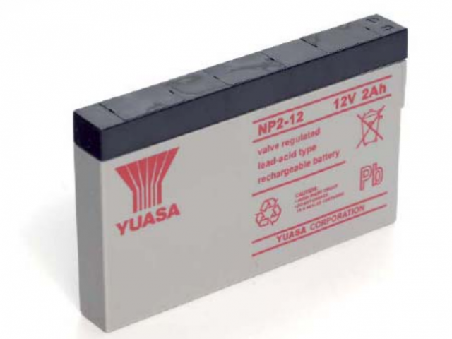 YUASA BATTERY NP2-12 2 Amp Hr 12V NOT FOR SALE (Product Image)