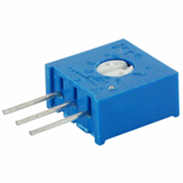 NTE 500E-0337 TRIMMER 50K OHM SINGLE TURN CERMET SIDE ADJUST 3/8 INCH SQUARE SEALED 10% TOLERANCE 1/2 WATT (Product Image)