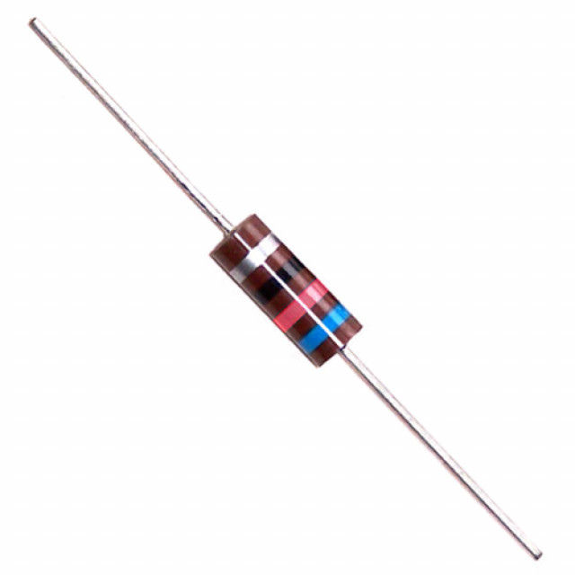 NTE HWCC412 NTE RESISTOR CARBON COMPOSITION 1/2 WATT 120K OHM 5% AXIAL LEAD Part Number HWCC412 (Product Image)