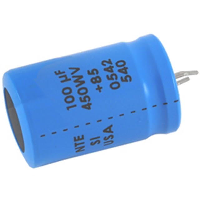 NTE SI47M450 CAPACITOR SNAP IN ALUMINUM ELECTROLYTIC 450UF 450V 20% (Product Image)