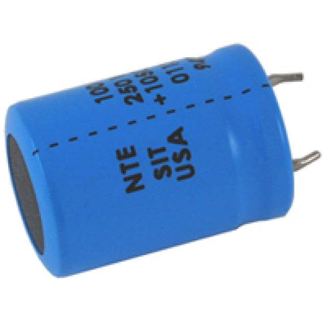 NTE SIT220M200 CAPACITOR HIGH TEMPERATURE SNAP IN ALUMINUM ELECTROLYTIC 220UF 200V 20% 105 DEGREE C (Product Image)