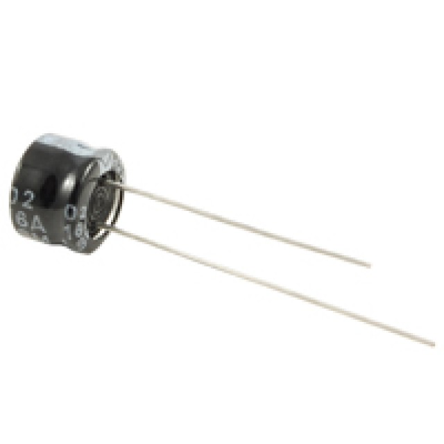 NTE ULM22M16 CAPACITOR-ULTRA MINIATURE ALUMINUM ELECTROLYTIC 22UF 16V 20% 105 DEGREES C RADIAL LEAD (Product Image)