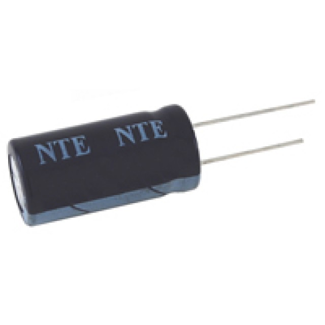 NTE VHT10M100 CAPACITOR HIGH TEMPERATURE ALUMINUM ELECTROLYTIC 10UF 100V 20% 105 DEGREE C RADIAL LEAD (Product Image)