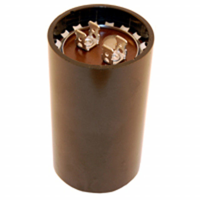 NTE MSC125V36 CAPACITOR MOTOR START AC ELECTROLYTIC 36-43UF 125VAC .250 INCH QUICK CONNECT TERMINALS (Product Image)