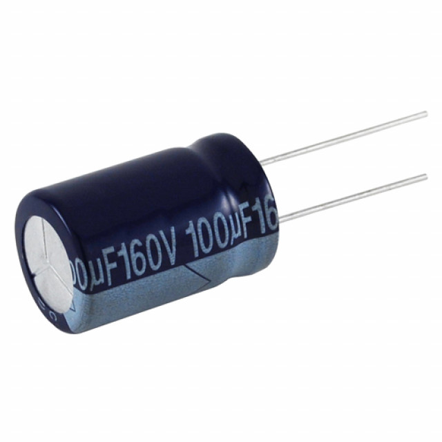 NTE NEVH47M160-10 CAPACITOR ALUMINUM ELECTROLYTIC 47UF 160V 20% RADIAL LEAD 10/PKG (Product Image)