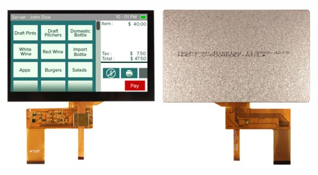 Newhaven NHD-7.0-800480EF-ATXL#-CTP Newhaven 800 x 480 Pixels Transmissive LCD TFT w/capacitive touch panel Using RGB Interface and 40 pin Connector. (Product Image)