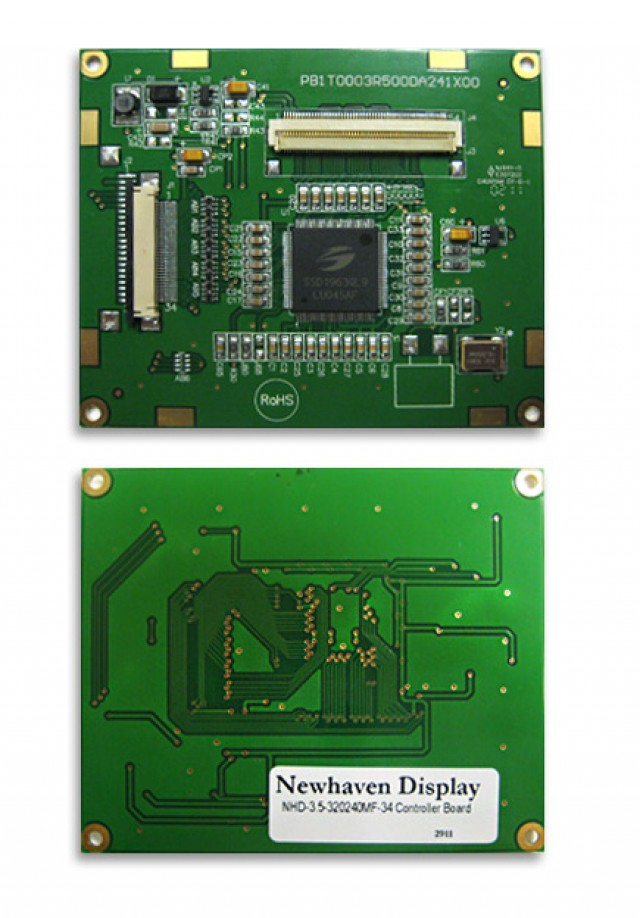 Newhaven NHD-3.5-320240MF-34 Digital controller board for 3.5(In) TFTs. 3.3V, 16-bit parallel input. (Product Image)