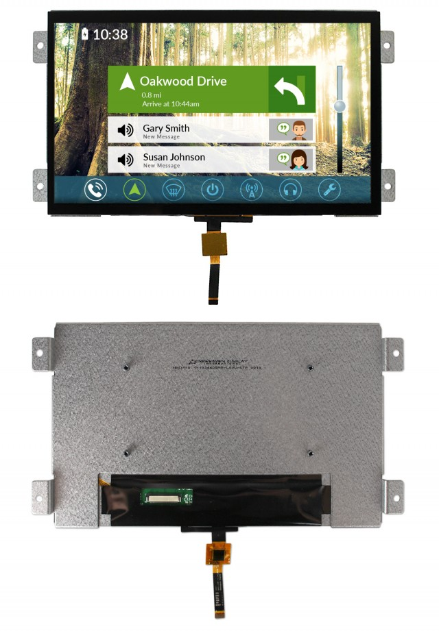 Newhaven Display NHD-10.1-1024600MB-LSXV-CTP Newhaven 1024 x 600 transmissive 10.1(Inch) Mountable MVA Cap Touch @ 3.3-5V and LVDS Interface Interface with 54104-4033 or equivalent Connector and TFT: HX8282-A;  CTP: FT5526EEZ Controller. PN - NHD-10.1-1024600MB-LSXV-CTP (Product Image)