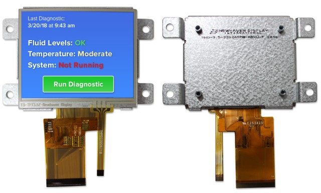 Newhaven NHD-3.5-320240MB-ASXV-T Newhaven 320 x RGB x 240 Transmissive 3.5(Inch) Mountable MVA Res Touch @ 3.3V and 24-bit Parallel Digital RGB Interface with 54-Pin FFC Connector and NONE Controller. PN - NHD-3.5-320240MB-ASXV-T (Product Image)
