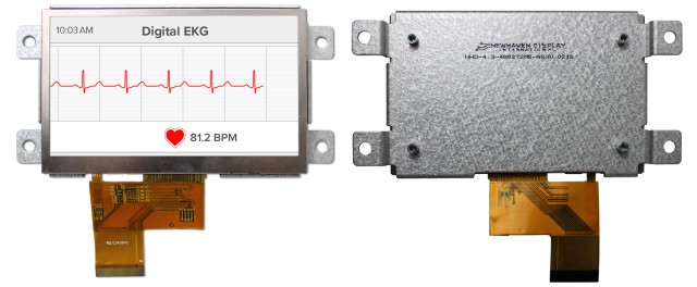 Newhaven Display NHD-4.3-480272MB-ASXV Newhaven 480 x 272 Pixels Transmissive 4.3(Inch) Mountable MVA TFT @ 3.3V and 24-Bit RGB  Interface with 40 pin Connector and None Controller. PN - NHD-4.3-480272MB-ASXV (Product Image)