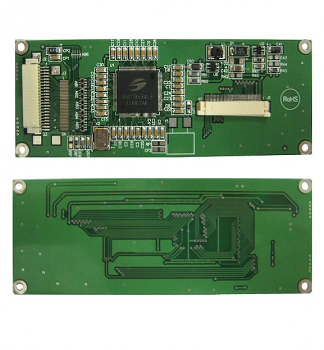 Newhaven Display NHD-4.3-480272MF-20 Digital controller board for 4.3(In) TFT without Touch Panel. 3.3V, 8-bit input. (Product Image)