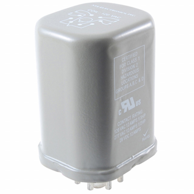 NTE R02-14A10-120H RELAY-10AMP 3PDT 120VAC 11-PIN OCTAL HERMETICALLY SEALED METAL ENCLOSURE (Product Image)