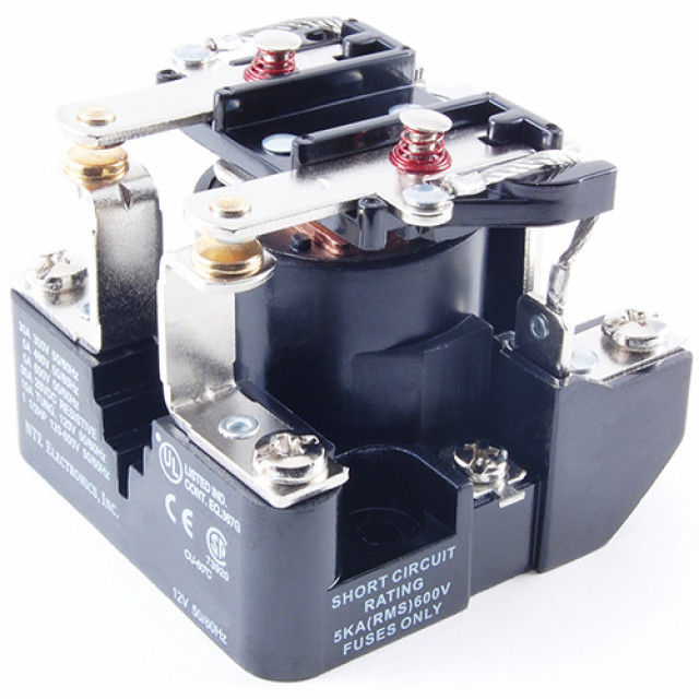 NTE R04-7A30-24 RELAY-24VAC 30 AMP DPST-N/O (Product Image)