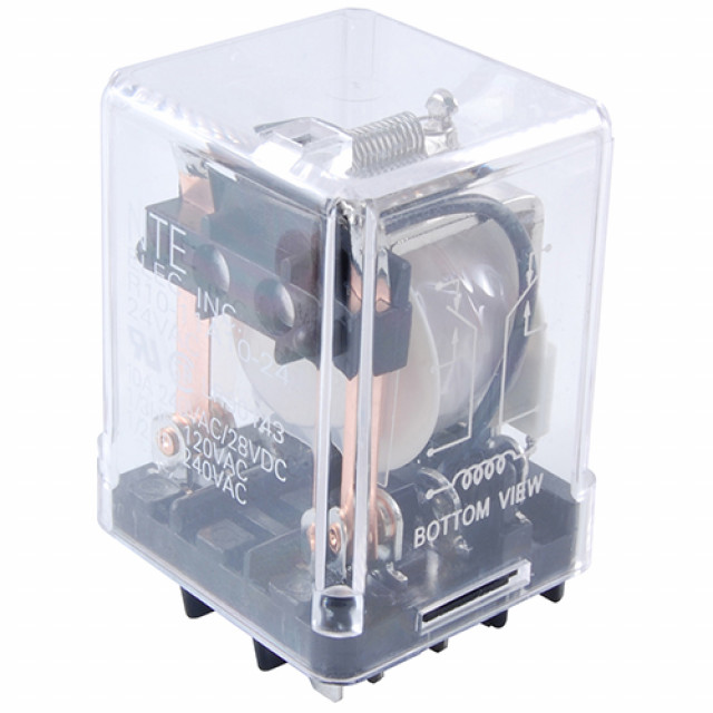 NTE R10-5A10-12 RELAY-12VAC 10AMP SPDT GEN.PURPOSE (Product Image)