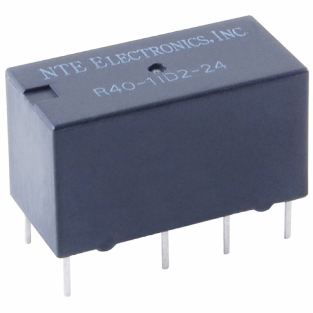 NTE R40-17D2-12C RELAY-4PDT 2AMP 12VDC SENSITIVE COIL EPOXY SEALED PC MOUNT DUAL COIL LATCHING 5.08 MM TERM SPACING (Product Image)
