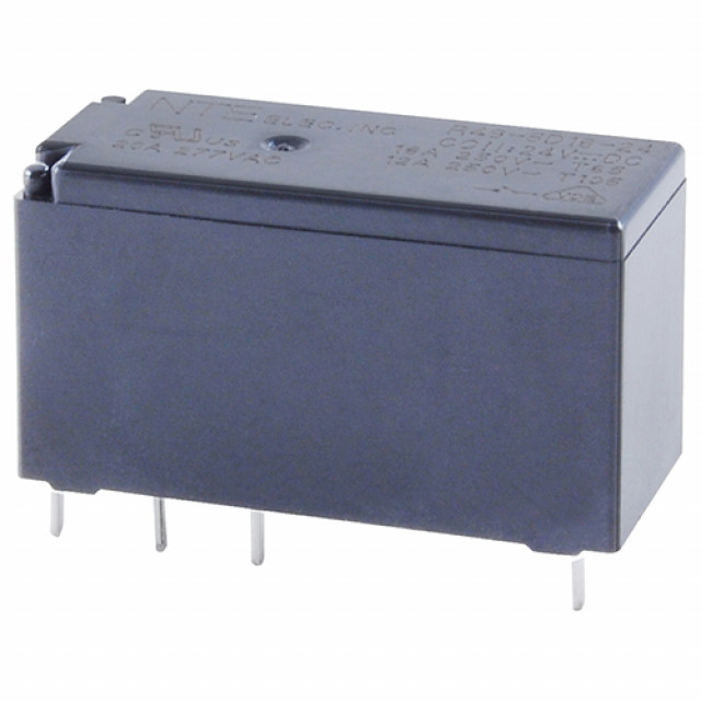 NTE R49-1D12-12 RELAY SPST-NO 12A 12VDC PC MOUNTABLE LOW PROFILE (Product Image)