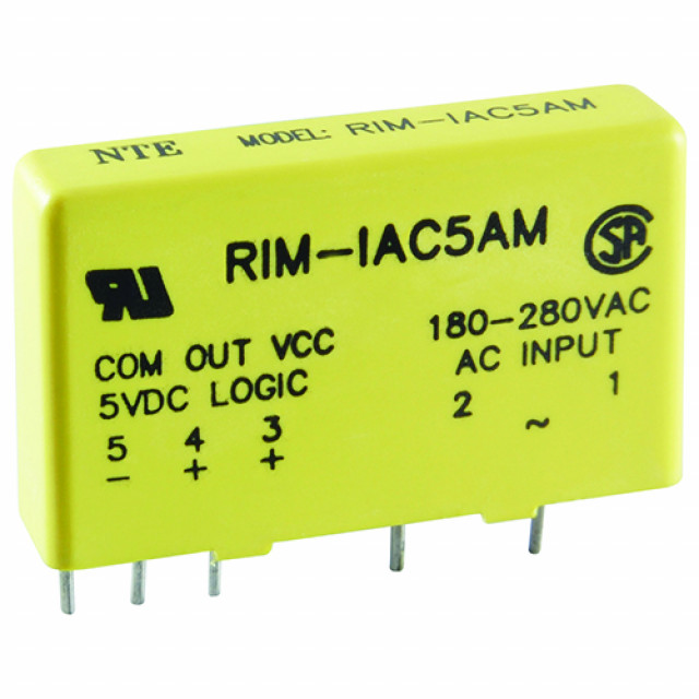 NTE RIM-IAC15M 120VAC SLIM LINE INPUT MODULE 15V SUPPLY VOLTAGE (Product Image)