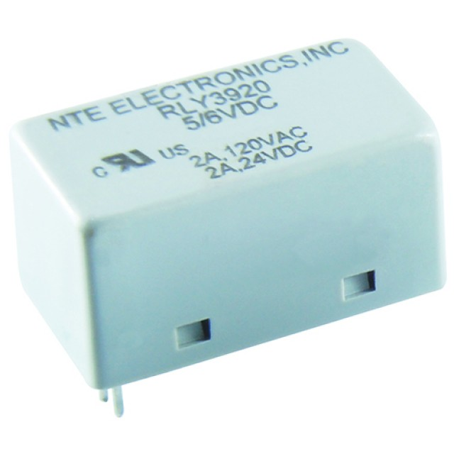 NTE RLY3922 RELAY 2A SPDT 12VDC PC MOUNT EPOXY SEALED LOW PROFILE IMMERSION PROOF (Product Image)