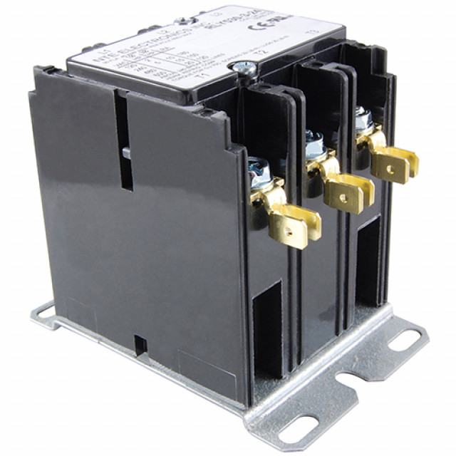 NTE RLY530-3-24 CONTACTOR 3 POLE 30FLA 24V SCREWS W/DUAL .250 INCH QUICK CONNECTS (Product Image)