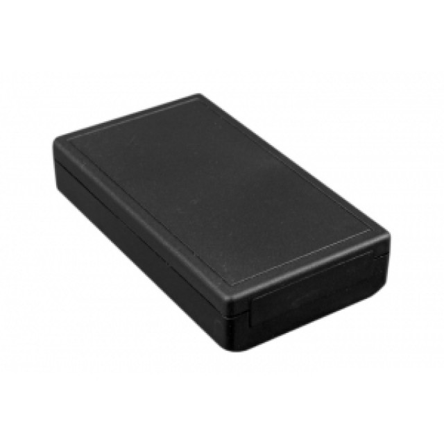 """Hammond Mfg. 001117 enclosure - grey ABS , front panel, battery compartment (4.92"""" x2.76"""" x0.87"""") (Product Image)"""