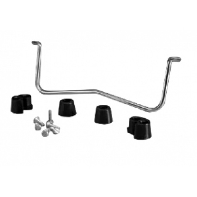 "Hammond Mfg. 1427D5 bail - chrome plated steel w/ plastic feet and hardware. 5.5"" mounting centers (Product Image)"