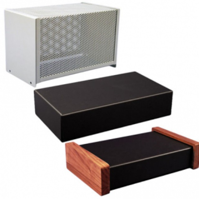 """Hammond Mfg. 1451-30BK3 perforated steel chassis cover: satin black (17.00"""" x10.00"""" x5.20"""") (Product Image)"""
