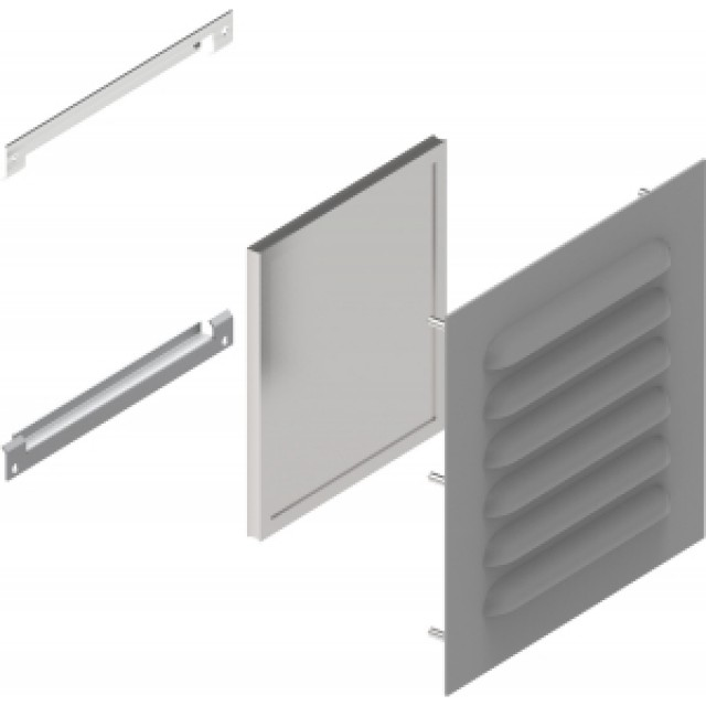 Hammond Mfg. 1481L3R56GY Type 3R Louver Kit 5x6 - Steel/Gray (Product Image)