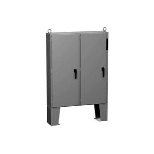 Hammond Mfg. 2UD726218FFTC Hammond N12 Two Door Disconnect encl w/ panel - 72.13 x 62 x 18.13 - Steel/Gray Part Number 2UD726218FFTC [UPC 62398046180 ] (Product Image)