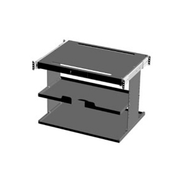 Hammond Mfg. IPCPS7 Hammond Pull Out Printer Shelf - Fits 700mm wide - Steel/Wht Part Number IPCPS7 [UPC 62398039259 ] (Product Image)