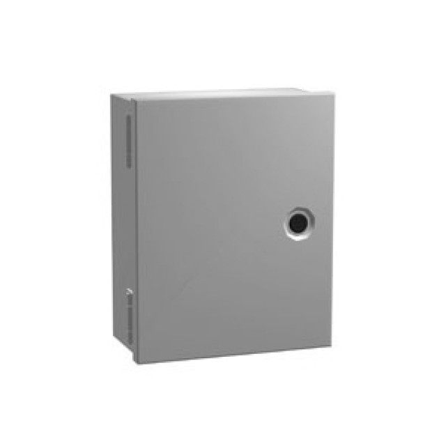 Hammond Mfg. N1J12104 Hammond N1 Enclosure w/panel - 12 x 10 x 4 - Steel/Gray Part Number N1J12104 [UPC 62398028126 ] (Product Image)