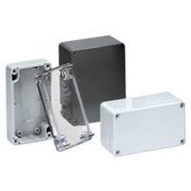 BUD PN-1323-DG BUD NEMA Polycarbonate 4.16 x 3.18 x 1.93 Inch Internal box with Dark gray ABS body/cover. Indoor Use. and No Mounting Bracket (Series Image)