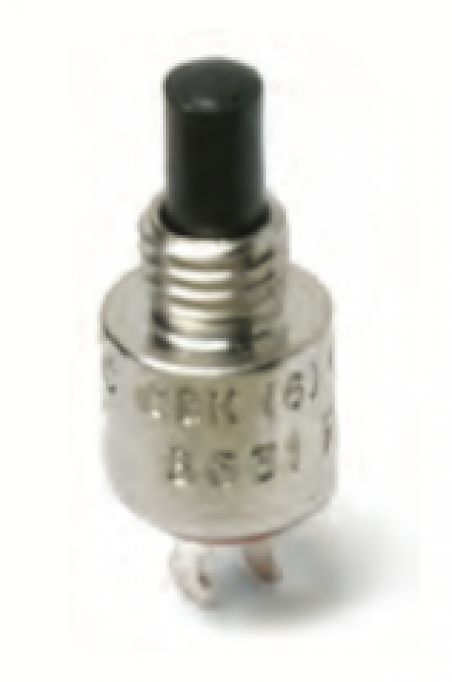 C&K 8632ZQD3 C&K SPST Off-(Mom) Normally Open (6.25oz) Micromini Pushbutton with Solder Lug Terminals and Silver contacts. Sealing ( No epoxy ) and Red Color Plunger. (Series Image)