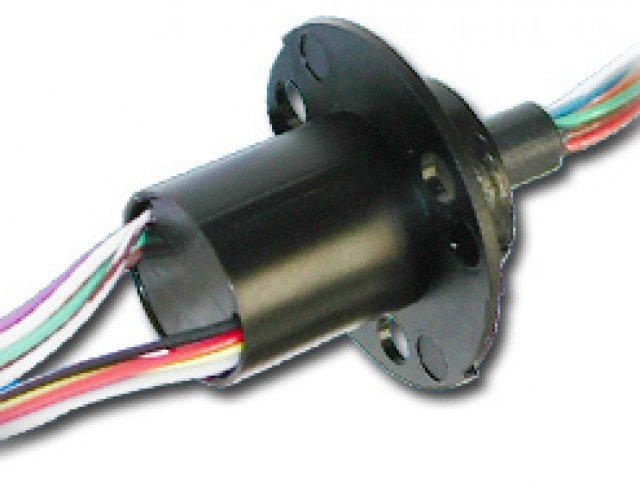 MOOG AC6373-6A 1/2 Capsule 6 x 2-amp Circuits Slip ring with 24 Inch Leads . (Series Image)